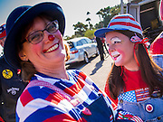 """11 NOVEMBER 2013 - PHOENIX, AZ: Clowns at the Veterans Day Parade in Phoenix. The Phoenix Veterans Day Parade is one of the largest in the United States. Thousands of people line the 3.5 mile parade route and more than 85 units participate in the parade. The theme of this year's parade is """"saluting America's veterans.""""     PHOTO BY JACK KURTZ"""