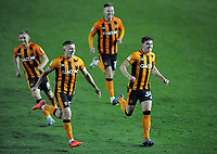 Football - 2020 / 2021 EFL Cup - Round Two - Leeds United vs Hull City<br /> <br /> Hull players celebrate after winning in the penalty shoot out  at Elland Road<br /> <br /> COLORSPORT/ANDREW COWIE