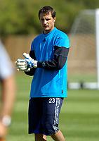 Photo: Daniel Hambury.<br />Chelsea Training Session. The Barclays Premiership. 24/07/2006.<br />Carlo Cudicini during training.