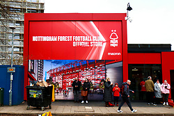 Nottingham Forest fans arrive at The City Ground, home to Nottingham Forest - Mandatory by-line: Ryan Crockett/JMP - 22/02/2020 - FOOTBALL - The City Ground - Nottingham, England - Nottingham Forest v Queens Park Rangers - Sky Bet Championship