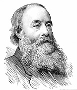 James Prescott Joule (1818-1889) English physicist. Mechanical equivalent of heat (J).  Engraving from 'The Graphic', London, 1889.