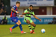 Forest Green Rovers Dan Wishart(17) on the ball during the Vanarama National League first leg play off match between Dagenham and Redbridge and Forest Green Rovers at the London Borough of Barking and Dagenham Stadium, London, England on 4 May 2017. Photo by Shane Healey.