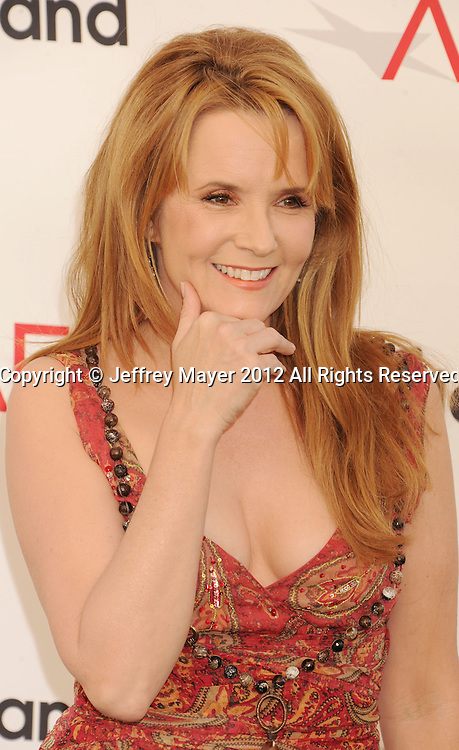 LOS ANGELES, CA - JUNE 07: Lea Thompson arrives at the 40th AFI Life Achievement Award honoring Shirley MacLaine at Sony Pictures Studios on June 7, 2012 in Los Angeles, California.