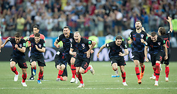 July 1, 2018 - Nizhny Novgorod, Russia - Players of Croatia celebrate the victory after  the 2018 FIFA World Cup Russia Round of 16 match between Croatia and Denmark at Nizhny Novgorod Stadium on July 1, 2018 in Nizhny Novgorod, Russia. (Credit Image: © Foto Olimpik/NurPhoto via ZUMA Press)