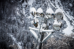 Lights at preparation of Planica Hill 6 days before FIS Ski Flying World Championships 2020, on December 4, 2020 in Planica, Slovenia. Photo by Matic Klansek Velej / Sportida