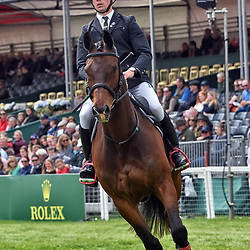 David Britnell Badminton Horse Trials Gloucester England UK. David Britnell equestrian eventing representing Great Britain riding Continuity in the Badminton Horse Trials 2019 Badminton Horse trials 2019 Winner Piggy French wins the title