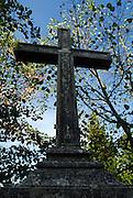 Stone Cross, Church of Saint Martin (Sveti Martin), Zrnovo, island of Korcula, Croatia