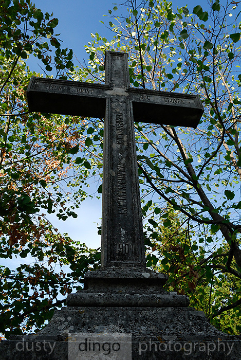 Stone Cross, Church of Saint Martin (Sveti Martin), Zrnovo, island of Korcula, Croatia