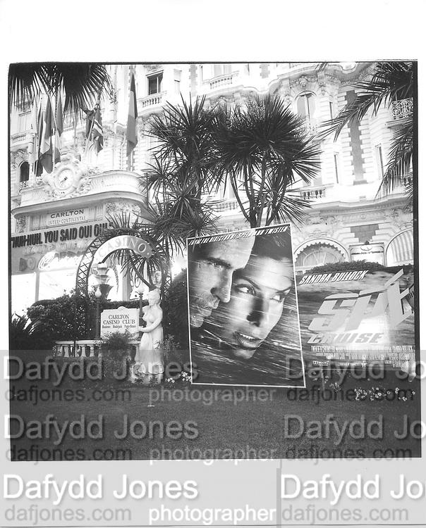Carlton Hotel, Croissette and beach, Cannes Film festival 14th May1997© Copyright Photograph by Dafydd Jones 66 Stockwell Park Rd. London SW9 0DA Tel 020 7733 0108 www.dafjones.com
