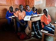 Portrait of school children in classroom, Iloileri School near Amboseli National Park, Rift Valley Province, Kenya