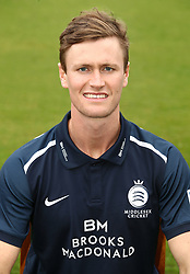 Middlesex's Nick Gubbins during the media day at Lord's Cricket Ground, London.