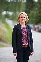 DEU, Deutschland, Germany, Bad Schlema, 23.08.2014:<br />Ulrike Trebesius, MdEP, AfD, steht für ein Portrait am Rande einer Wahlveranstaltung der Partei Alternative für Deutschland (AfD) in Bad Schlema.