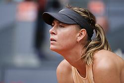 May 7, 2018 - Madrid, Spain - Maria Sharapova against Irina-Camelia Begu during day three of the Mutua Madrid Open tennis tournament at the Caja Magica on May 7, 2018 in Madrid, Spain. (Credit Image: © Oscar Gonzalez/NurPhoto via ZUMA Press)