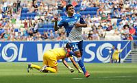 Fotball<br /> 09.08.2014<br /> Foto: imago/Digitalsport<br /> NORWAY ONLY<br /> <br /> Testspiel, TSG 1899 Hoffenheim - CFC Genoa, v.l. Tarik Elyounoussi (1899 Hoffenheim) Torjubel 1:0