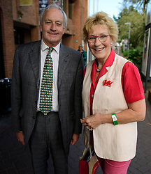 ©  London News Pictures. 17/09/2016. Bournemouth, UK. NEIL AND CHRISTINE HAMILTON arrive at Day 2 of the 2016 UKIP Autumn Conference, held at the Bournemouth International Centre in Bournemouth, Dorset. On Friday, the party elected Diane James as their new leader, following Nigel Farage resignation after the UK voted to leave the EU in a referendum..  Photo credit: Ben Cawthra/LNP