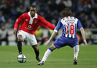 """PORTUGAL - PORTO 28 FEBRUARY 2005:LUIS MIGUEL #23(L) and """"MANICHE"""" Nuno Ricardo Oliveira Ribeiro #18, in the 23 leg of the Portuguese soccer league """"Super Liga"""" FC Porto (1) vs SL Benfica (1), held in """"Dragao"""" stadium  28/02/2005  20:19:07<br />(PHOTO BY: NUNO ALEGRIA/AFCD)<br /><br />PORTUGAL OUT, PARTNER COUNTRY ONLY, ARCHIVE OUT, EDITORIAL USE ONLY, CREDIT LINE IS MANDATORY AFCD-PHOTO AGENCY 2004 © ALL RIGHTS RESERVED"""