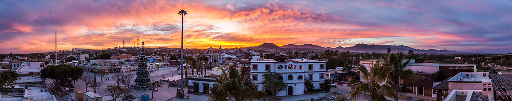 A sunset over on Christmas eve, San Jose del Cabo, B.C.S., Mexico.