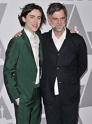 Timothée Chalamet and Paul Thomas Anderson at the 90th Annual Academy Awards Nominee Luncheon held at the Beverly Hilton in Beverly Hills, CA on Monday, February 5, 2018. (Photo By Sthanlee B. Mirador/Sipa USA)