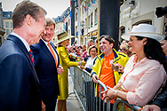 King Willem-Alexander and Queen Maxima of The Netherlands are welcomed by Grand Duke Henri and Grand Duchess Maria Teresa of Luxembourg with an official welcome ceremony at the Grand Ducal Palace in Luxembourg, 23 May 2018. The Dutch King and Queen are in Luxembourg for an three day state visit. Photo: robin Utrecht