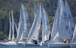 Sailing - SCOTLAND  - 25th-28th May 2018<br /> <br /> The Scottish Series 2018, organised by the  Clyde Cruising Club, <br /> <br /> First days racing on Loch Fyne.<br /> <br /> Hunter 707, Start<br /> 7102, Jetstream, Justin Venton, PEYC, Hunter 707 OD<br /> <br /> Credit : Marc Turner<br /> <br /> <br /> Event is supported by Helly Hansen, Luddon, Silvers Marine, Tunnocks, Hempel and Argyll & Bute Council along with Bowmore, The Botanist and The Botanist
