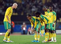 Fotball<br /> Sør Afrika v New Zealand<br /> Foto: Witters/Digitalsport<br /> NORWAY ONLY<br /> <br /> 17.06.2009<br /> <br /> v.l. Matthew Booth, Steven Pienaar, MacBeth Sibaya, Kagisho Dikgacoi, Teko Modise (Suedafrika)<br /> Fussball Confederations Cup 2009 in Suedafrika, Suedafrika - Neuseeland 2:0