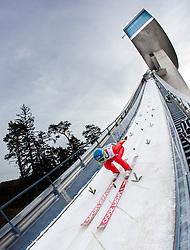 03.01.2014, Bergisel Schanze, Innsbruck, AUT, FIS Ski Sprung Weltcup, 62. Vierschanzentournee, Training, im Bild Jan Ziobro (POL) // Jan Ziobro (POL) during practice Jump of 62nd Four Hills Tournament of FIS Ski Jumping World Cup at the Bergisel Schanze, Innsbruck, <br /> Austria on 2014/01/03. EXPA Pictures © 2014, PhotoCredit: EXPA/ JFK