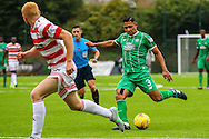 Celtic FC Defender Emilio Izaguirre on the attack during the Ladbrokes Scottish Premiership match between Hamilton Academical FC and Celtic at New Douglas Park, Hamilton, Scotland on 4 October 2015. Photo by Craig McAllister.