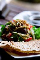 Healthy and delicious beef salad.