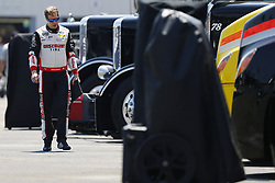 July 13, 2018 - Sparta, Kentucky, United States of America - Brad Keselowski (2) hangs out in the garage during practice for the Quaker State 400 at Kentucky Speedway in Sparta, Kentucky. (Credit Image: © Chris Owens Asp Inc/ASP via ZUMA Wire)