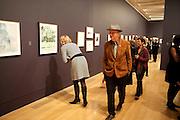 BOB AND ROBERTA SMITH, Watercolour, Tate Britain. London. 14 February 2011. -DO NOT ARCHIVE-© Copyright Photograph by Dafydd Jones. 248 Clapham Rd. London SW9 0PZ. Tel 0207 820 0771. www.dafjones.com.
