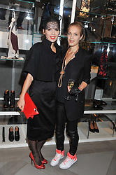 Left to right, LARA BOHINC and POLLY MORGAN at a party to celebrate the opening of the new Nicole Farhi global flagship store at 25 Conduit Street, London W1 on 19th September 2011.