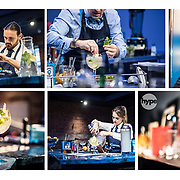 Bombay bartenders and mixologists at work at the Bombay Sapphire distillery Lavertoke Mill.