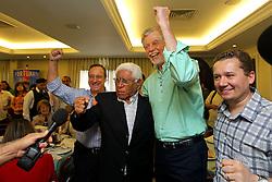 Dep.Federal Vieira da Cunha, Alceu Collares, José Fortunati e Mauro Zacher, durante a comemoração do aniversário de 85 anos do ex-governador, Alceu Collares. FOTO: Jefferson Bernardes/Preview.com