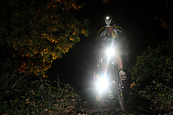 ©under licence to London News Pictures. 30 October 2010, Mountain bike and cyclo cross champion Nick Craig takes part in a night time cyclo cross race at Herne Hill Velodrome, London. The Knog Muddy Hell Halloween Cyclo Cross event is open to all categories and halloween costume is encouraged as the event takes place on Halloween weekend. Prizes are awarded for race position and the best costume. 30 October 2010