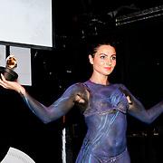 NLD/Amsterdam/20111007 - Presentatie Marc Ecko watches, nieuwe horloges worden gepresenteerd door gebodypainte dames