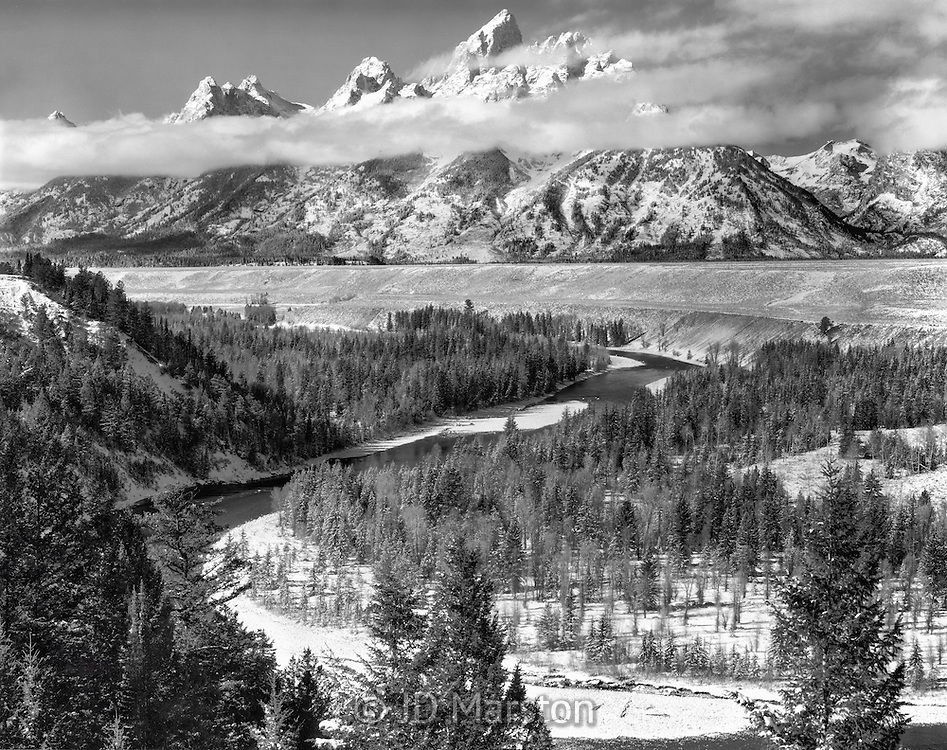 Teton's Overlook, Grand Teton National Park, view made famous by Ansle Adams