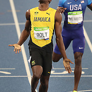 Athletics - Olympics: Day 13   Usain Bolt of Jamaica winning the gold medal in the Men's 200m Final at the Olympic Stadium on August 18, 2016 in Rio de Janeiro, Brazil. (Photo by Tim Clayton/Corbis via Getty Images)
