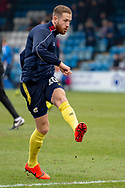 Scunthorpe United forward Kevin van Veen (10) in the warm-up session ahead of the EFL Sky Bet League 1 match between Gillingham and Scunthorpe United at the MEMS Priestfield Stadium, Gillingham, England on 16 February 2019.