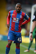 Jason Puncheon of Crystal Palace looking on. Barclays Premier league match, Crystal Palace v Arsenal at  Selhurst Park in London on Sunday 16th August 2015.<br /> pic by John Patrick Fletcher, Andrew Orchard sports photography.