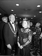 18/01/1981<br /> 01/18/1981<br /> 18 January 1981<br /> Texaco Sportsters awards at the Burlington Hotel, Dublin. Picture shows Lord Mayor of Dublin Alexis FitzGerald Jnr and his wife Mary Flaherty TD at the awards.
