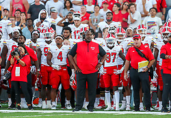 Sep 4, 2021; College Park, Maryland, USA; Maryland Terrapins head coach Mike Locksley stands along the sidelines late in the fourth quarter against the West Virginia Mountaineers at Capital One Field at Maryland Stadium. Mandatory Credit: Ben Queen-USA TODAY Sports