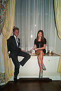 FRANCIS BOULLE; REBECCA HOFFNUNG;, Tatler magazine Jubilee party with Thomas Pink. The Ritz, Piccadilly. London. 2 May 2012