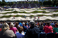 BMX Qualification, general view during the Cycling European Championships Glasgow 2018, at Glasgow BMX Centre, in Glasgow, Great Britain, Day 9, on August 10, 2018 - Photo luca Bettini / BettiniPhoto / ProSportsImages / DPPI<br /> - Restriction / Netherlands out, Belgium out, Spain out, Italy out -