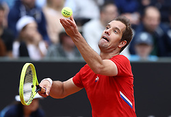 May 14, 2019 - Rome, Italy - Richard Gasquet (FRA) during the ATP Internazionali d'Italia BNL first round match at Foro Italico in Rome, Italy on May 14, 2019. (Credit Image: © Matteo Ciambelli/NurPhoto via ZUMA Press)