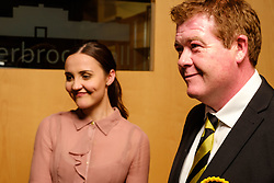 General Election 2017 Dumfries Count :: Mairi McCallan, and Richard Arkless, Scottish National Party candidates at the count<br /> <br /> (c) Andrew Wilson | Edinburgh Elite media