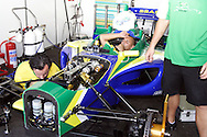 DURBAN - 25 February 2007 - Technical staff of Team Brazil check their car at the A1 Grand Prix in Durban, South Africa, on Sunday morning before the feature race. Picture: Allied Picture Press/APP
