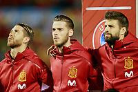Spain's Sergio Ramos, David De Gea and Gerard Pique during FIFA World Cup 2018 Qualifying Round match. October 6,2017.(ALTERPHOTOS/Acero)