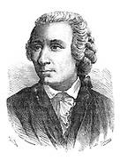 Leonhard Euler (1707-1783). Swiss mathematician.Wood engraving published Paris c.1870