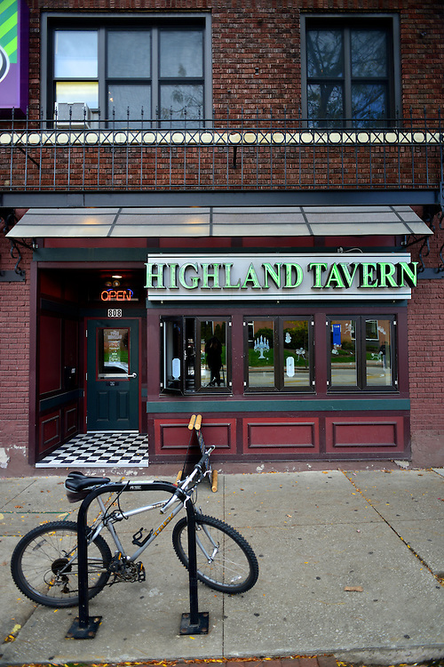 Exterior of Highland Tavern.