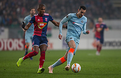 December 13, 2018 - Budapest, Hungary - Andreas Christensen (R) in action during the UEFA Europa League Group L match between MOL Vidi FC and Chelsea FC at Groupama stadium on Dec 13, 2018 in Budapest, Hungary. (Credit Image: © Robert Szaniszlo/NurPhoto via ZUMA Press)